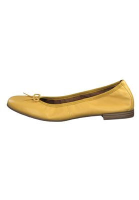 Tamaris 1-22116-22 602 Womens Sun Yellow Leather Ballerina with TOUCH-IT Sole – Bild 2