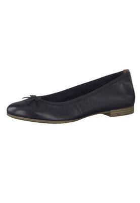 Tamaris 1-22116-22 805 Women's Navy Blue Leather Ballerina with TOUCH-IT Sole