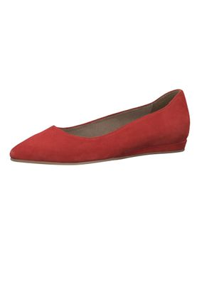 Tamaris 1-22118-22 515 Ladies Lipstick Red Leather Ballerina with TOUCH-IT sole – Bild 1