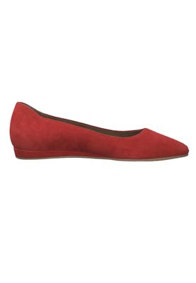 Tamaris 1-22118-22 515 Ladies Lipstick Red Leather Ballerina with TOUCH-IT sole – Bild 2