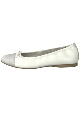 Tamaris 1-22129-22 100 Womens White White Leather Ballerina with TOUCH-IT Sole – Bild 3