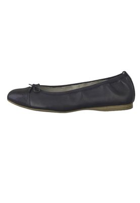 Tamaris 1-22129-22 805 Ladies Navy Dark Blue Leather Ballerina with TOUCH-IT sole – Bild 3