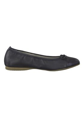 Tamaris 1-22129-22 805 Ladies Navy Dark Blue Leather Ballerina with TOUCH-IT sole – Bild 2