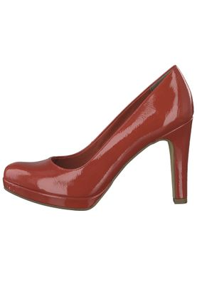 Tamaris 1-22426-22 520 Damen Chili Patent Rot Plateau Pumps High-Heel mit TOUCH-IT Sohle – Bild 3