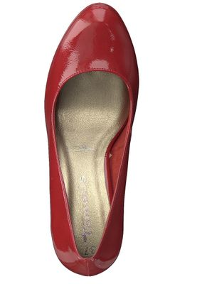 Tamaris 1-22426-22 520 Damen Chili Patent Rot Plateau Pumps High-Heel mit TOUCH-IT Sohle – Bild 5