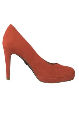 Tamaris 1-22433-22 245 Damen Red Suede Rot Plateau Pumps High-Heel Heart & Sole – Bild 2