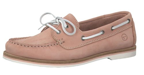 Tamaris 1-23616-22 540 Damen Light Pink Nubuc Pink Rosa Leder Bootsschuh – Bild 1