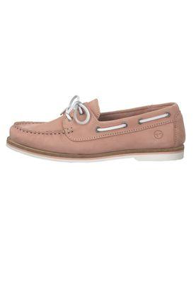 Tamaris 1-23616-22 540 Damen Light Pink Nubuc Pink Rosa Leder Bootsschuh – Bild 3