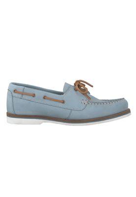 Tamaris 1-23616-22 727 Damen Sky Nubuc Hellblau Leder Bootsschuh – Bild 2