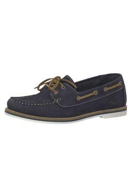 Tamaris 1-23616-22 827 Damen Navy Nubuc Blau Leder Bootsschuh – Bild 1