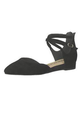 Tamaris 1-24202-22 001 Women's Black Black Leather Strappy Ballerina with TOUCH-IT Sole – Bild 1