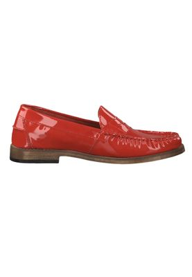 Tamaris 1-24211-22 581 Damen Red Patent Leather Rot Leder Mokassin Slipper – Bild 2