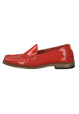 Tamaris 1-24211-22 581 Damen Red Patent Leather Rot Leder Mokassin Slipper – Bild 3