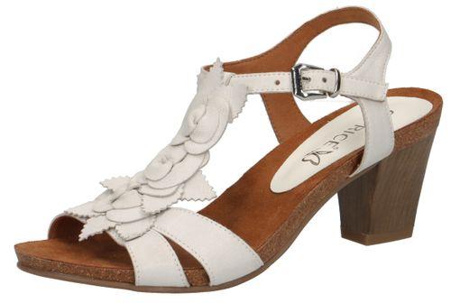 Caprice Damen Sandale Sandalette Weiss 9-28306-22 128 Offwhite Sue Met. – Bild 1