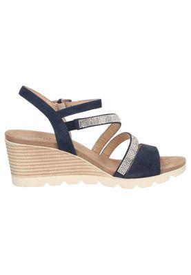 Caprice Damen Keil-Sandale Sandalette Blau 9-28309-22 857 Ocean – Bild 2