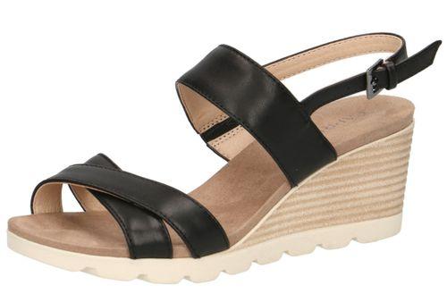 Caprice Women's Wedge Sandal Sandal Black 9-28316-22 022 Black Nappa – Bild 1