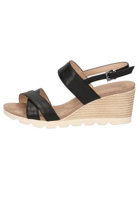 Caprice Damen Keil-Sandale Sandalette Schwarz 9-28316-22 022 Black Nappa – Bild 3