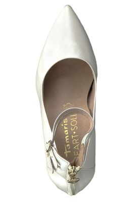 Tamaris 1-24408-22 101 Damen White Pearl Weiss Riemchenpumps Heart & Sole – Bild 6