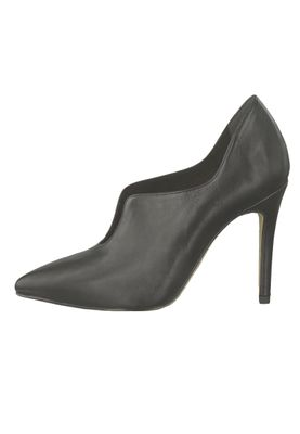Tamaris 1-24418-22 003 Damen Black Leather Schwarz Leder High-Heel Pumps – Bild 3