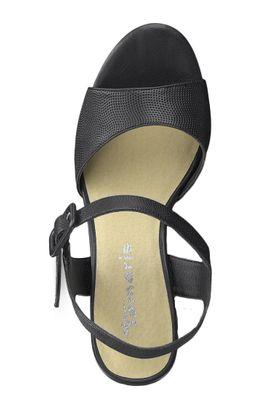 Tamaris 1-28000-22 001 Damen Black Schwarz Plateau Sandaletten Platform Sandals – Bild 5