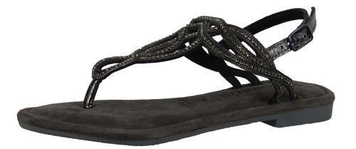 Tamaris 1-28115-22 012 Women Black Metallic Black Gray Roman Sandals Sandal with TOUCH-IT sole – Bild 1
