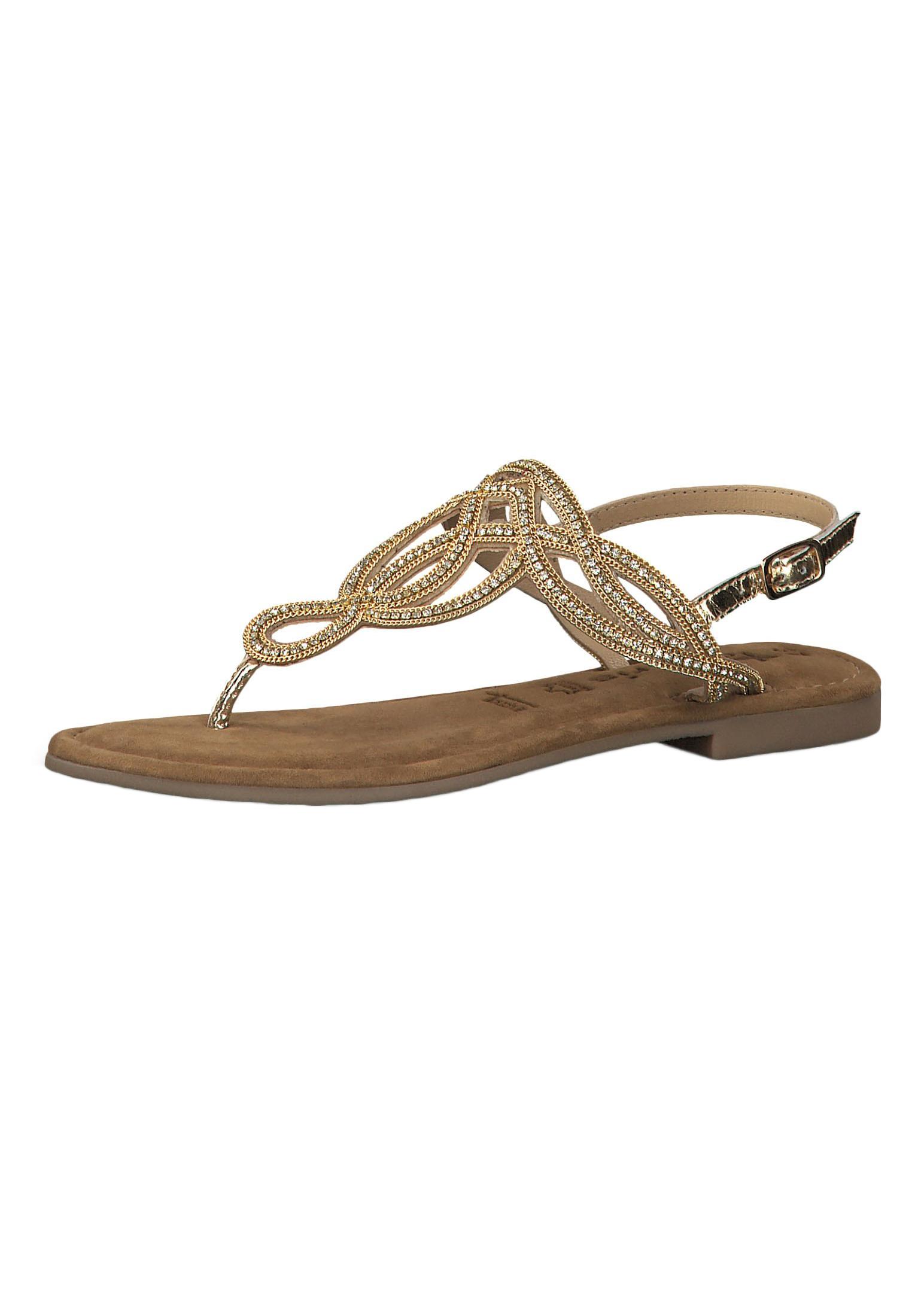 Tamaris 1 28115 22 940 Damen Gold Römer Sandaletten Sandale mit TOUCH IT Sohle