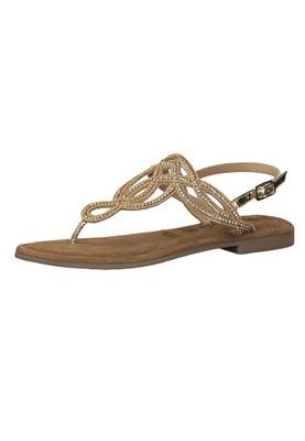 Tamaris 1-28115-22 940 Women's Gold Roman Sandals Sandal with TOUCH-IT sole – Bild 1