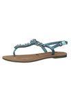 Tamaris 1-28152-22 831 Damen Turquoise Metallic Türkis Römer Sandaletten Sandale mit TOUCH-IT Sohle 001
