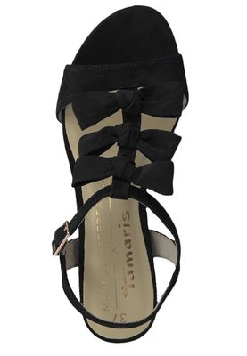 Tamaris 1-28200-22 001 Women's Black Black Sandals Heeled Sandal – Bild 5