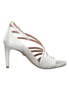 Tamaris 1-28303-22 101 Damen White Pearl Weiss Sandaletten High-Heel Sandale Heart & Sole – Bild 2