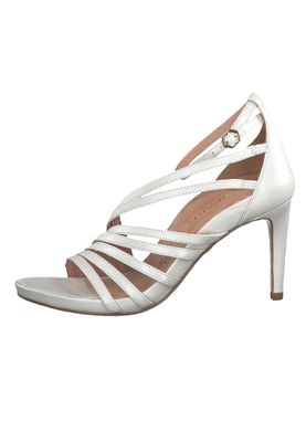 Tamaris 1-28303-22 101 Damen White Pearl Weiss Sandaletten High-Heel Sandale Heart & Sole – Bild 3