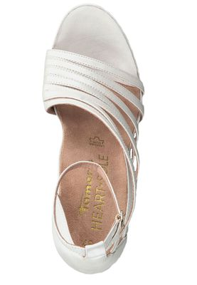Tamaris 1-28303-22 101 Damen White Pearl Weiss Sandaletten High-Heel Sandale Heart & Sole – Bild 5
