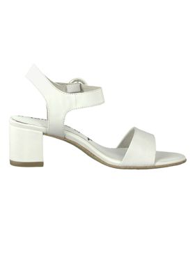 Tamaris 1-28324-22 117 Damen White Leather Weiss Sandale Sandalette mit TOUCH-IT Sohle – Bild 2