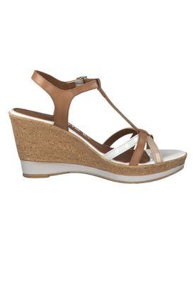 Tamaris 1-28347-22 392 Damen Cognac Comb Braun Wedge Platform Sandals Sandaletten – Bild 2