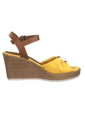 Tamaris 1-28341-22 634 Damen Sun Cognac Gelb Wedge Platform Sandals Sandaletten – Bild 2