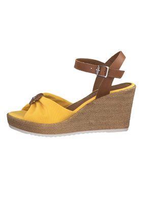 Tamaris 1-28341-22 634 Damen Sun Cognac Gelb Wedge Platform Sandals Sandaletten – Bild 3