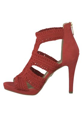 Tamaris 1-28355-22 515 Damen Lipstick Rot Sandaletten High Heeled Sandale – Bild 3