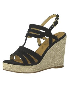 Tamaris 1-28372-22 001 Damen Black Schwarz Wedge Platform Sandals Sandaletten – Bild 1