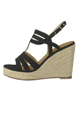 Tamaris 1-28372-22 001 Damen Black Schwarz Wedge Platform Sandals Sandaletten – Bild 3