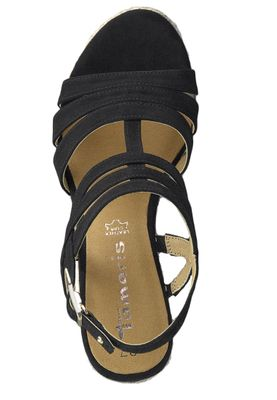 Tamaris 1-28372-22 001 Damen Black Schwarz Wedge Platform Sandals Sandaletten – Bild 5