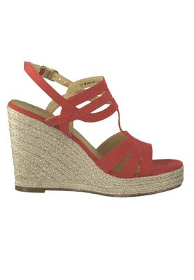 Tamaris 1-28372-22 515 Damen Lipstick Rot Wedge Platform Sandals Sandaletten – Bild 3