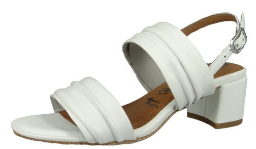 Tamaris 1-28386-22 117 Damen White Leather Weiss Sandale Sandalette mit TOUCH-IT Sohle – Bild 1