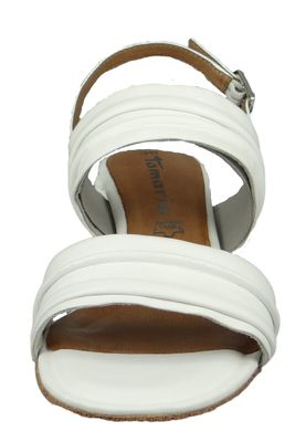 Tamaris 1-28386-22 117 Damen White Leather Weiss Sandale Sandalette mit TOUCH-IT Sohle – Bild 6