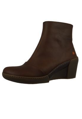 Art Damen Keil-Stiefelette Ankle Boot Rotterdam Brown Braun 1561 – Bild 2