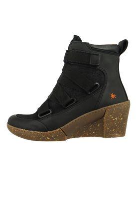 Art Damen Keil-Stiefelette Ankle Boot Rotterdam Black Schwarz 1566 – Bild 2