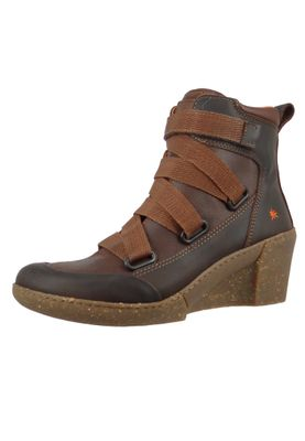 Art Damen Keil-Stiefelette Ankle Boot Rotterdam Brown Braun 1566 – Bild 2