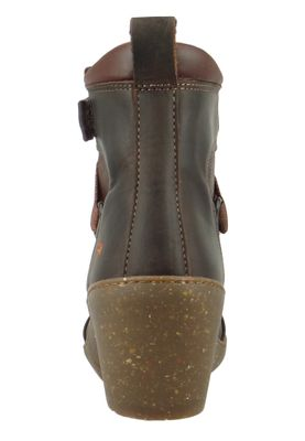 Art Damen Keil-Stiefelette Ankle Boot Rotterdam Brown Braun 1566 – Bild 4