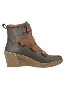 Art Damen Keil-Stiefelette Ankle Boot Rotterdam Brown Braun 1566 – Bild 5