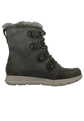 Sorel Damen Winterstiefel Boot Gefüttert Explorer Joan Quarry Black Grau NL3039-052 – Bild 4