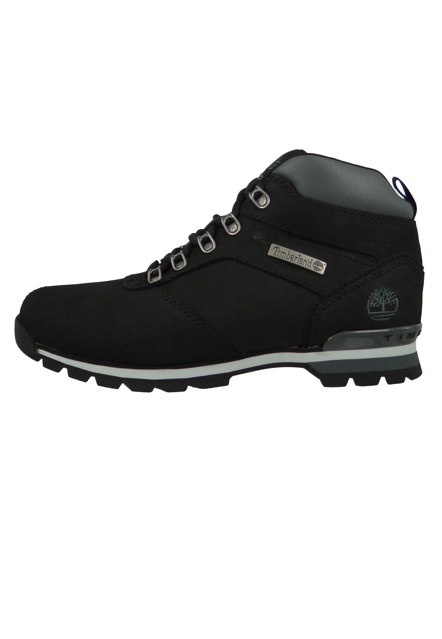 Timberland 6161R Splitrock 2 Hiker Herren Leder Wanderschuhe Black Nubuck Schwarz